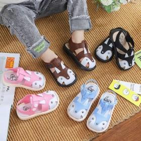 春夏秋新款国潮版儿童包头学步凉鞋软底防滑防尿臭男女