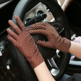 春夏季新款时尚女士薄款短款弹力氨纶防晒手套