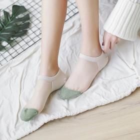【10双】新款袜女韩版短袜薄款船袜女丝袜玻璃丝棉袜