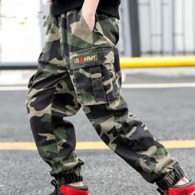 童装男童迷彩裤中大童长裤工装风裤运动休闲时尚长裤