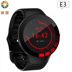 米友全圆全触E3智能手环1.28寸大圆屏测心率血压