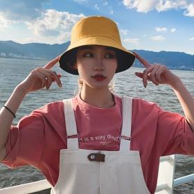 双面戴渔夫帽夏季户外防晒