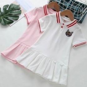 女童夏装连衣裙2020新款洋气宝宝polo裙衫