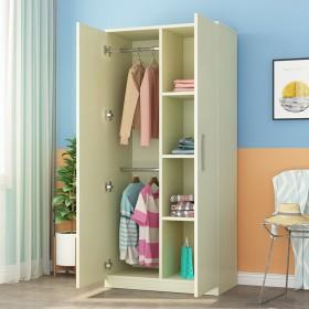 衣柜简约现代经济型组装实木板式衣柜家用木质卧室双开