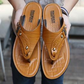 夏季人字拖男鞋男士夹脚凉拖男凉鞋夹趾沙滩鞋男防滑拖