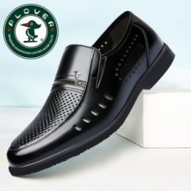 啄木鸟头层牛皮真皮男士商务韩版套脚皮鞋男鞋