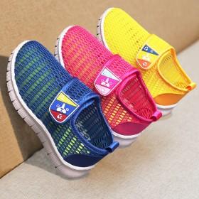 夏季新款透气凉鞋儿童运动鞋中大童网鞋小白男童跑步鞋