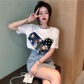 夏季韩版2020设计感小众T恤 衬衫 打底衣上衣