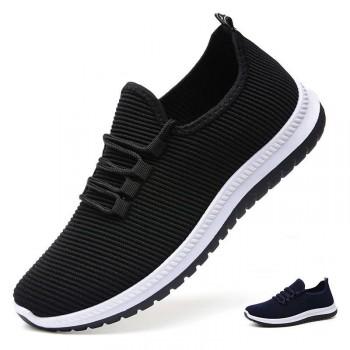 老北京布鞋男单鞋老人鞋秋冬季休闲中老年防滑健步鞋