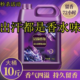 洗衣液薰衣草香味持久留香一箱家庭装袋装大瓶香水味批