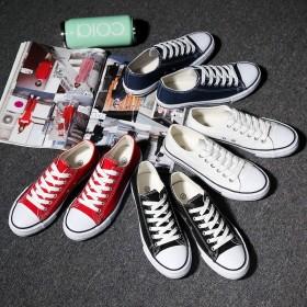 新款男士帆布鞋男鞋青年情侣休闲韩版布鞋潮板鞋低帮小