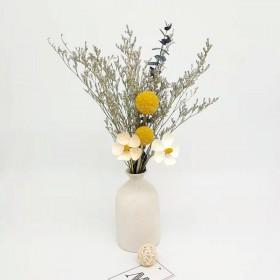 ins风粗陶瓷干花花瓶摆件