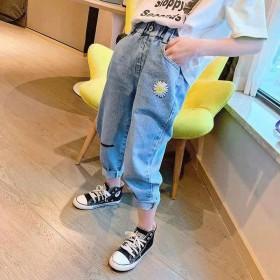 女童牛仔裤2020春秋装新款儿童韩版洋气宽松中大童