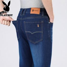 花花公子男士牛仔裤修身弹力夏季薄款休闲长裤子