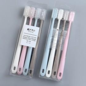 一盒包邮 无印风日式牙刷4支装