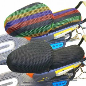 电动车坐垫套防晒防水电瓶车座垫隔热透气电动自行车座