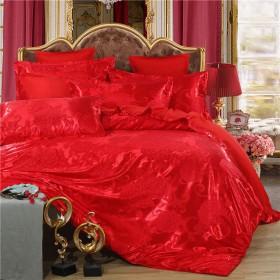 欧式提花四件套床单被套双人婚庆床上用品4件套
