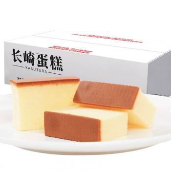 长崎蛋糕500g纯手工糕点早餐 小吃手撕面包整箱
