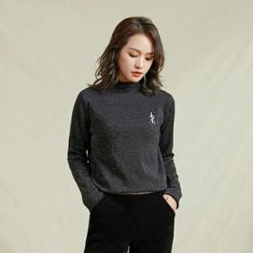秋冬新款韩版半高领毛针织衫女修身显瘦打