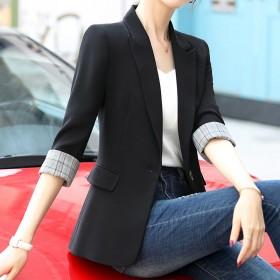 黑色小西装外套女上衣2020春秋季新款网红休闲西服