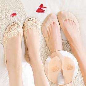 船袜女冰丝袜蕾丝袜硅胶袜防滑夏季隐形纯棉袜底浅口
