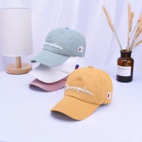 韩版新款糖果色儿童字母刺绣棒球帽子春夏秋天宝宝可爱
