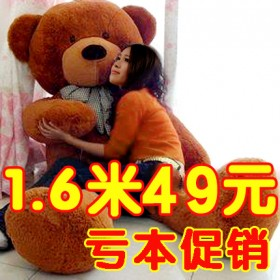 毛绒玩具熊公仔熊猫抱抱熊抱枕女生日礼物布娃娃特大号