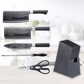 德国刀具6件套刀座厨房菜刀全钢刀具切菜刀砍骨剪刀