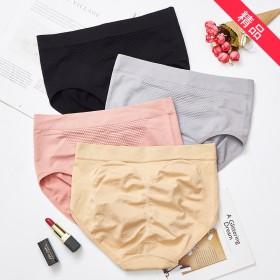 日系3D暖宫蜂窝裤弹力舒适无缝收腹提臀高腰内裤女纯