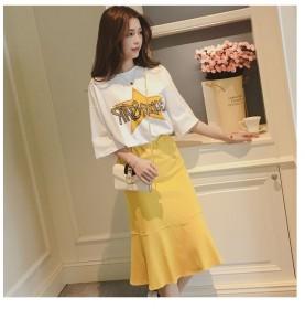2020新款裙子女夏仙气甜美两件套韩版洋气套装裙