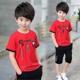 男童夏装套装2019新款洋气韩版短袖儿童夏款童装男