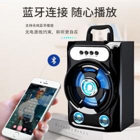 无线蓝牙音箱k歌手提音响大音量手机插卡小低音炮