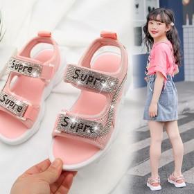 女童凉鞋女孩韩版水钻公主鞋2020新款夏季软底女