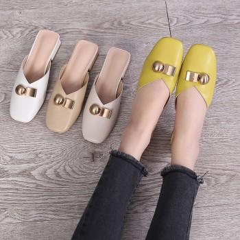 包头半拖鞋 女鞋拖鞋
