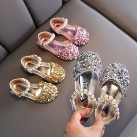 女童凉鞋2020新款春夏儿童公主皮鞋小女孩包头舞蹈
