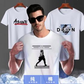 富贵鸟纯棉短袖T恤男印花