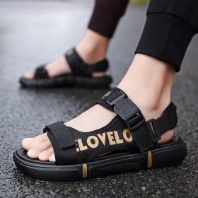 凉鞋韩版外穿沙滩鞋大码男夏季凉拖潮流休闲透气拖鞋