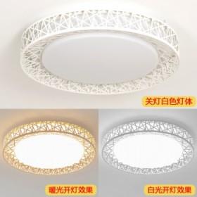 LED圆形简约吸顶灯卧室客厅灯