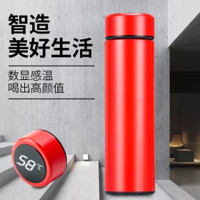 LED智能304不锈钢测温数显保温杯触摸显示温度杯