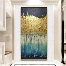 入户玄关装饰画简约抽象手绘油画艺术过道走廊尽头挂画