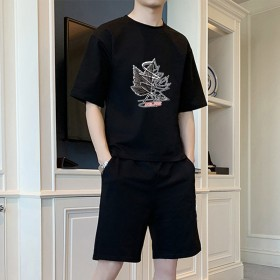 男士运动套装夏季学生韩版潮流ins潮牌休闲套装