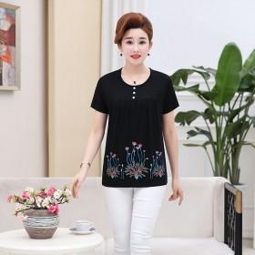 【莫代尔棉】中老年女装短袖T恤新款中年妈妈装大码夏