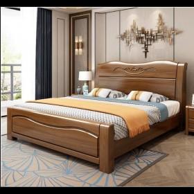 实木床1.8米双人床厂家直销主卧1.5米单人床橡木