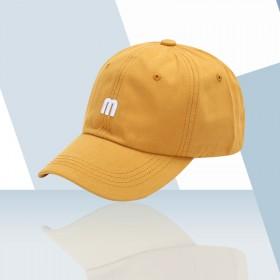 帽子韩版 个性纯色刺绣潮流圆顶嘻哈帽ins潮牌女男