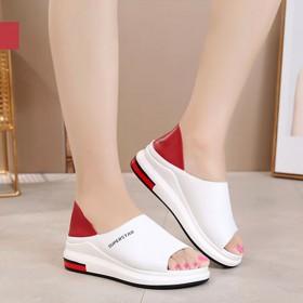 两穿凉鞋女夏季时尚拖鞋百搭松糕鱼嘴韩版平底两穿