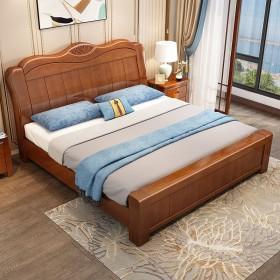 特价现代中式实木床简约1.8米经济型双人床1.5米