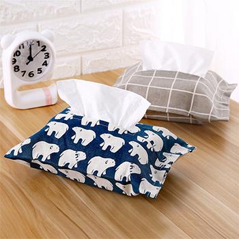 日式棉麻纸巾套布艺纸巾盒抽纸套家用创意纸巾抽纸袋