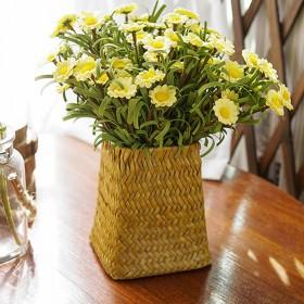手工编织花瓶草编藤编客厅装饰花篮干花花瓶