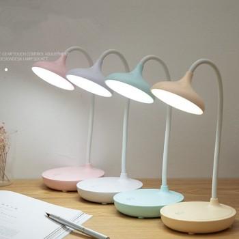 LED触摸调光阅读台灯USB充电插电节能护眼学生