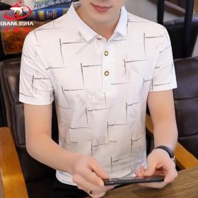 95%棉夏季男士短袖POLO衫韩版时尚潮流半袖